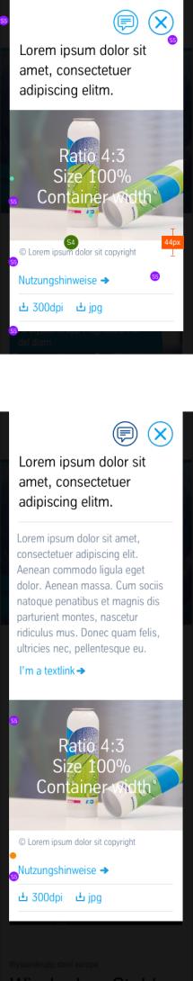 Image Lightbox: Vermaßung Mobile