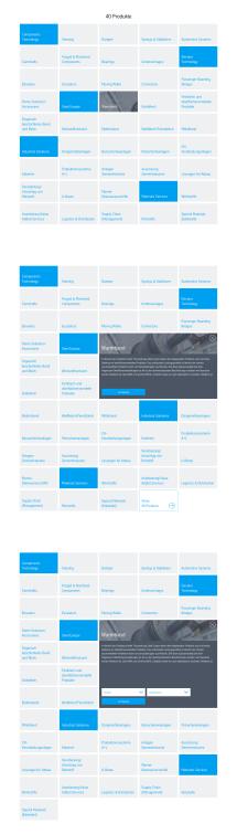 Product tiles: Dimensioning Desktop