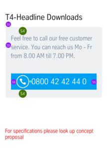 CTA Call-us: Vermaßung Mobile