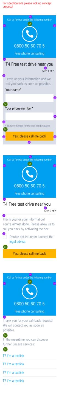 CTA kit General Contact: Dimensioning Mobile