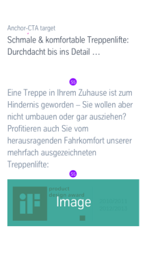 Centred Text + Image: Dimensioning Mobile