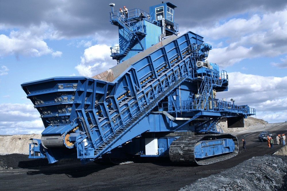 britagem móvel mineração