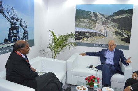 Mr. Subramaniam in conversations with Mr. Anil Razdan -Consultant to Power Ministry (Ex Power Secretory)