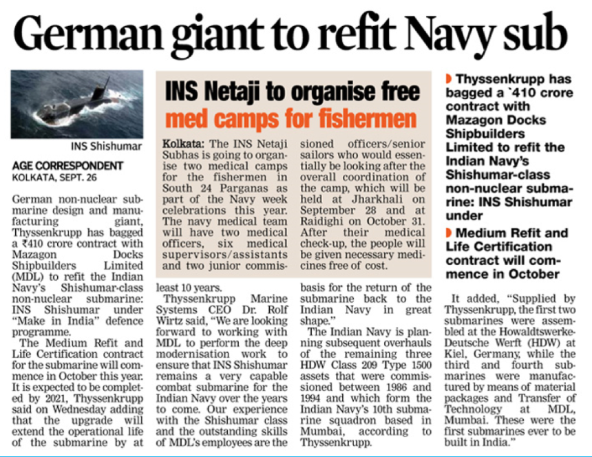 German giant to refit Navy sub
