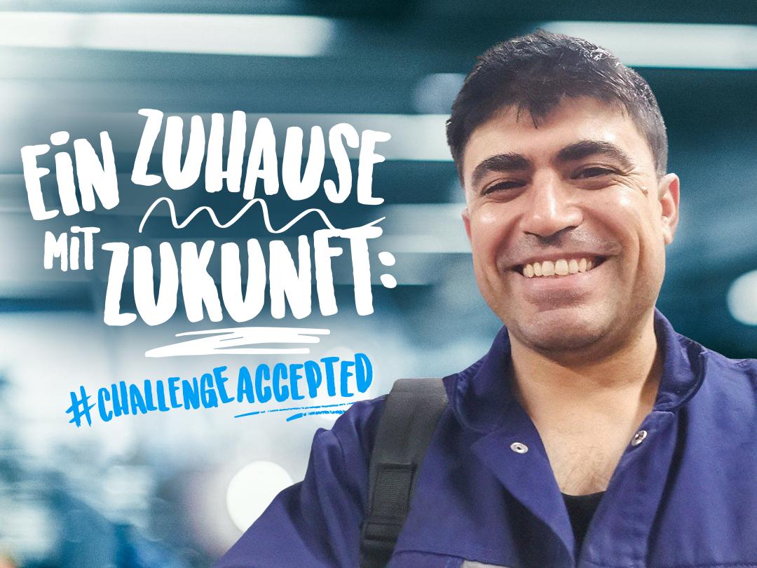 Omar Isar hat in Deutschland ein Zuhause gefunden und eine Ausbildung bei thyssenkrupp gestartet