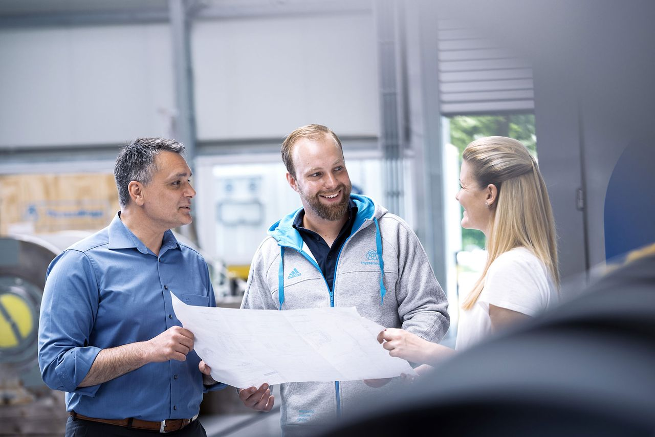 Take your career in civil engineering to the next level at thyssenkrupp.