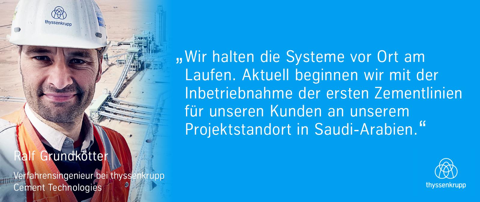 In Saudi Arabien arbeitet das Team zusammen, um sicherzustellen, dass die Systeme vor Ort reibungslos funktionieren.