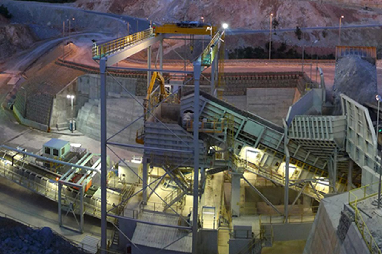 In-pit crushing systems
