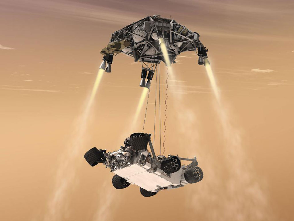 """Perfect material for space exploration: thyssenkrupp provided both plate stock and forged blocks of 7050 aluminum to Jet Propulsion Lab Division of NASA (JPL) for descent stage landing gear of the famous Mars rover """"Curiosity"""""""