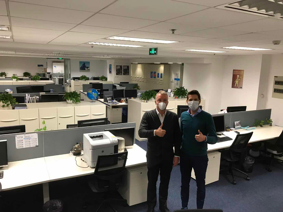 Within a very short time, the plant engineering experts evacuated their office in Shanghai.