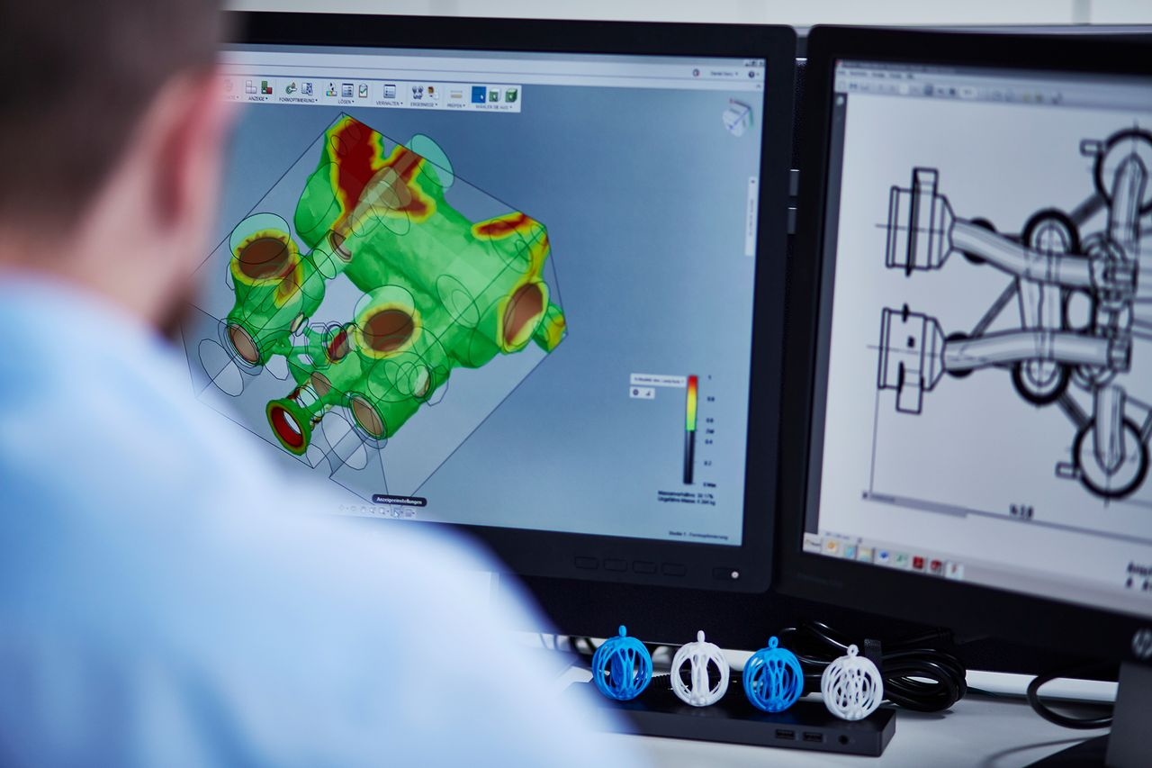 Der industrielle 3D-Druck ermöglicht es komplexe geometrischen Formen preiswert, schnell und hochqualitativ herzustellen.