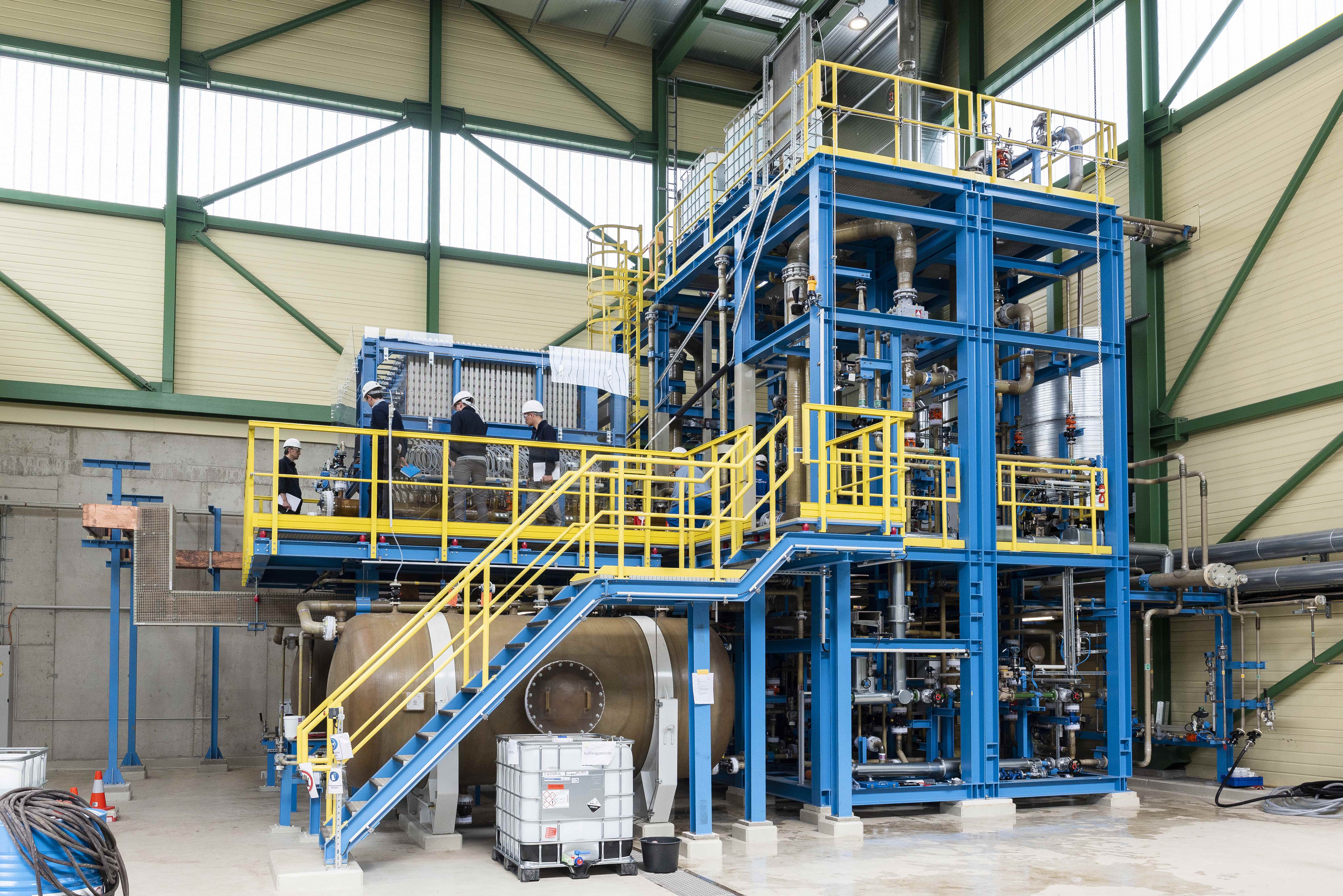 Our plant for water electrolysis at our Duisburg site.
