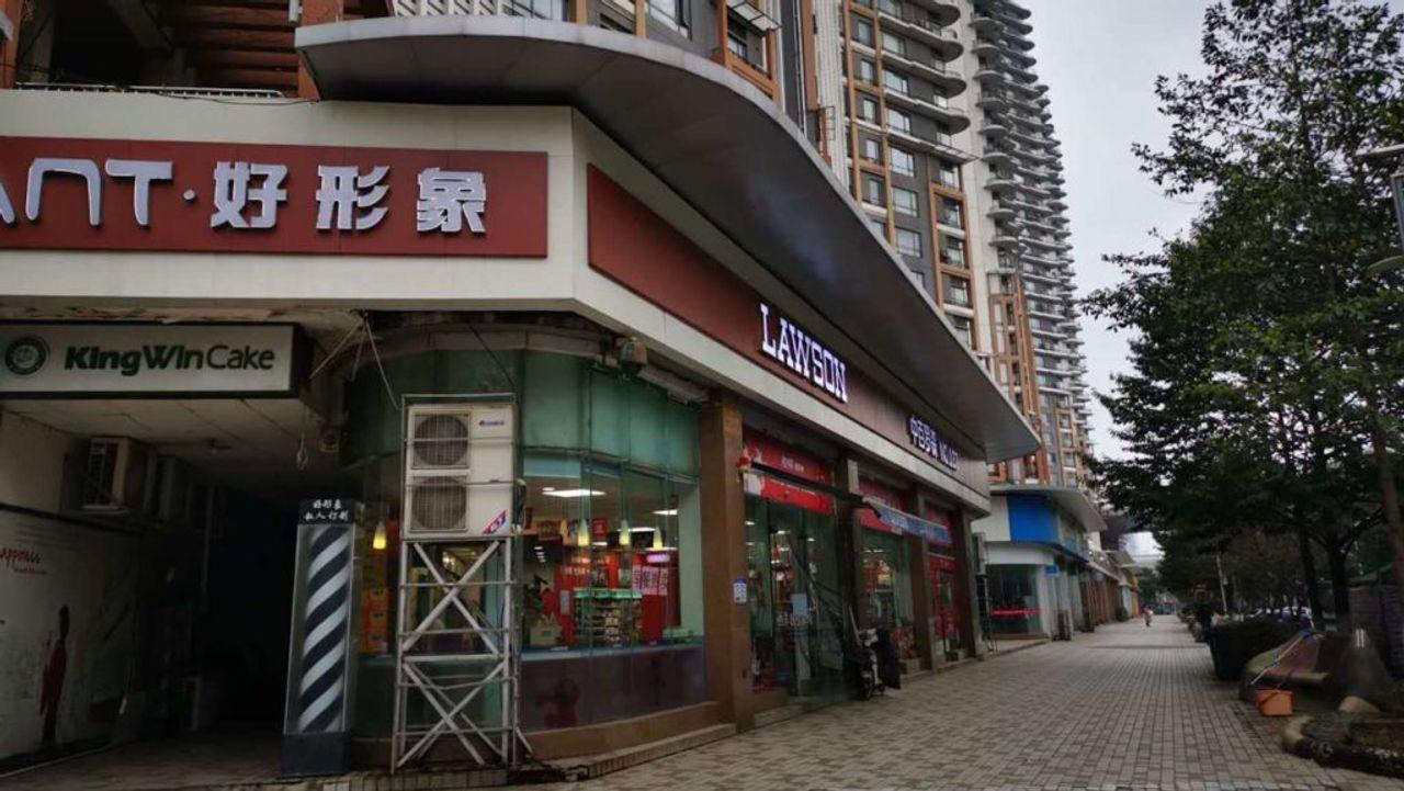 Obwohl die Feierlichkeiten zum chinesischen Neujahrsfest kurz bevorstanden, herrschte auf den Straßen in Wuhan Leere.