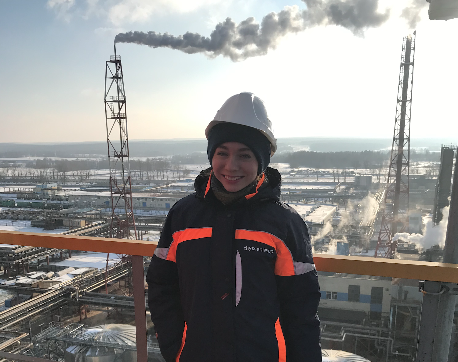 Most of the time Maria Kharitonova works at the thyssenkrupp production facility for deep grain processing in Dzerzhinsk.