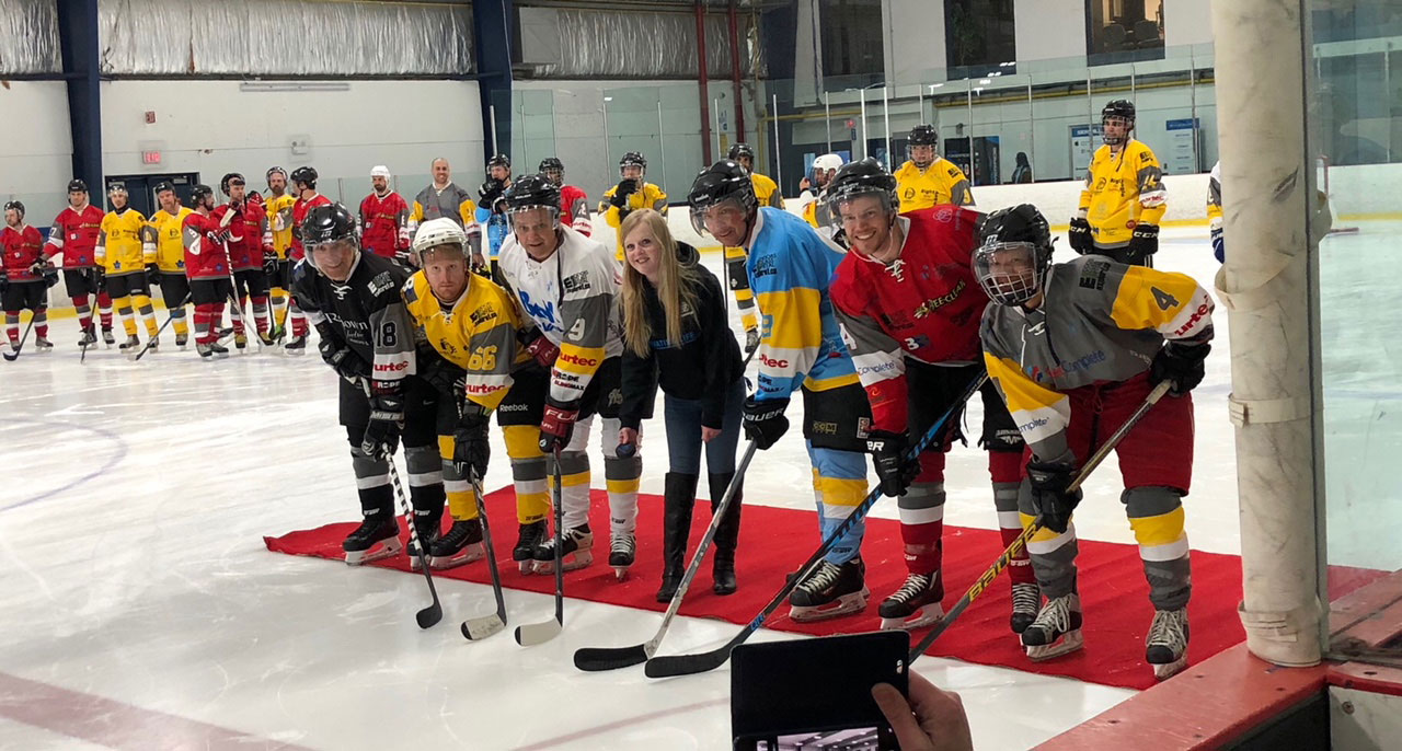 """With Meaghan in the lead, thyssenkrupp started the charity tournament """"Puck CF"""" in 2018. Breaking thyssenkrupp's fundraising charity records for a single project, the event collected 40,000 dollars to fight Cystic Fibrosis"""