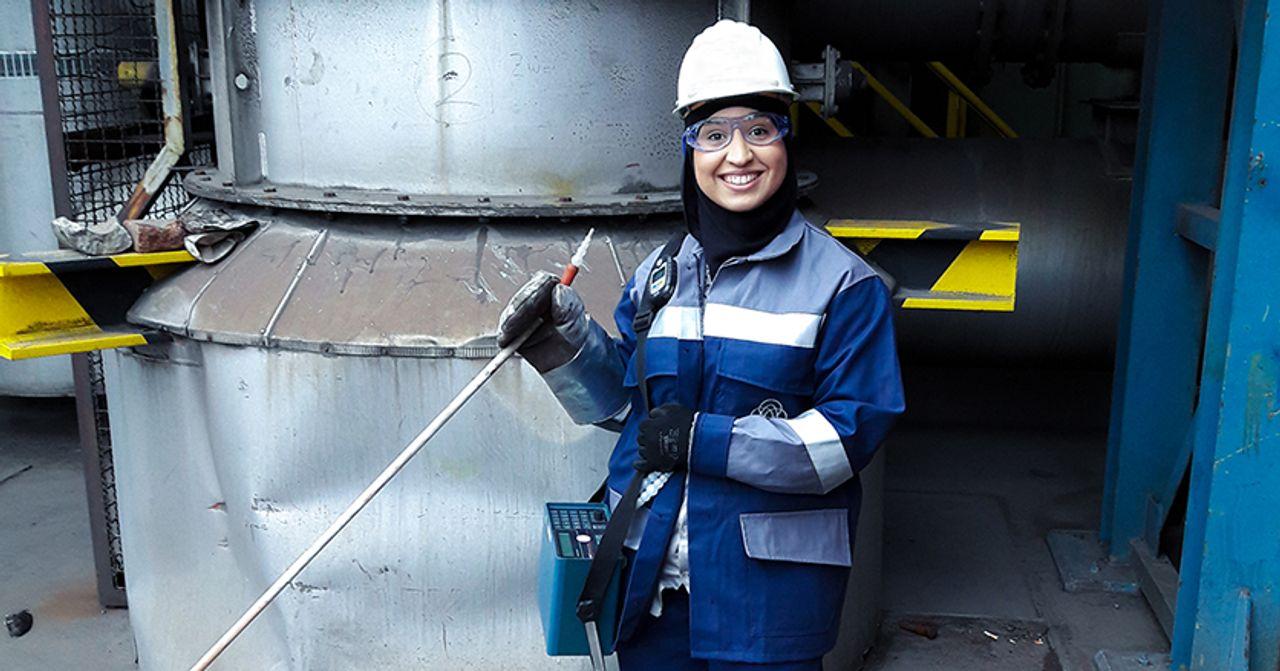 Najat Aya: Im Team zur klimaneutralen Stahlproduktion