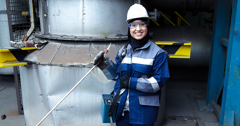 Najat Aya: part of the climate-neutral steel production team