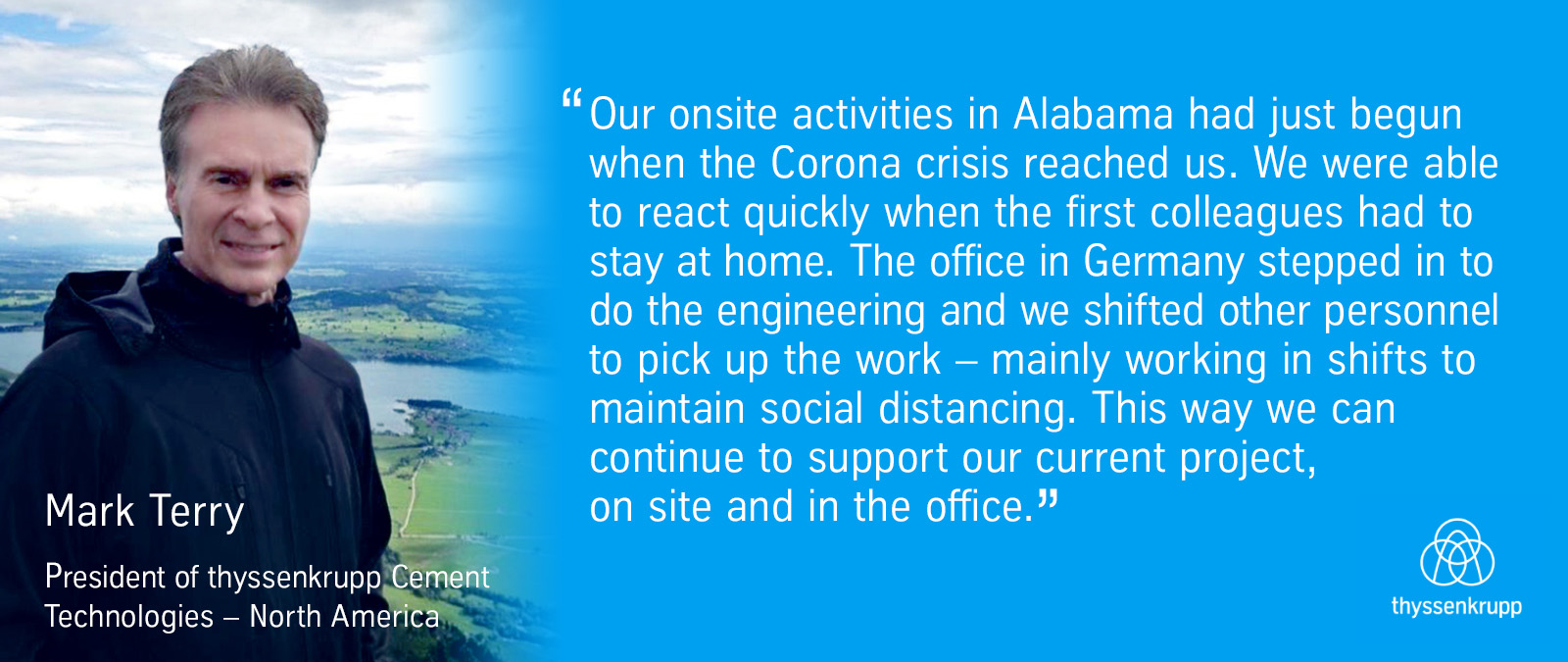 Stepping in for colleagues and support across continents was what kept a project site in Alabama, USA, running.