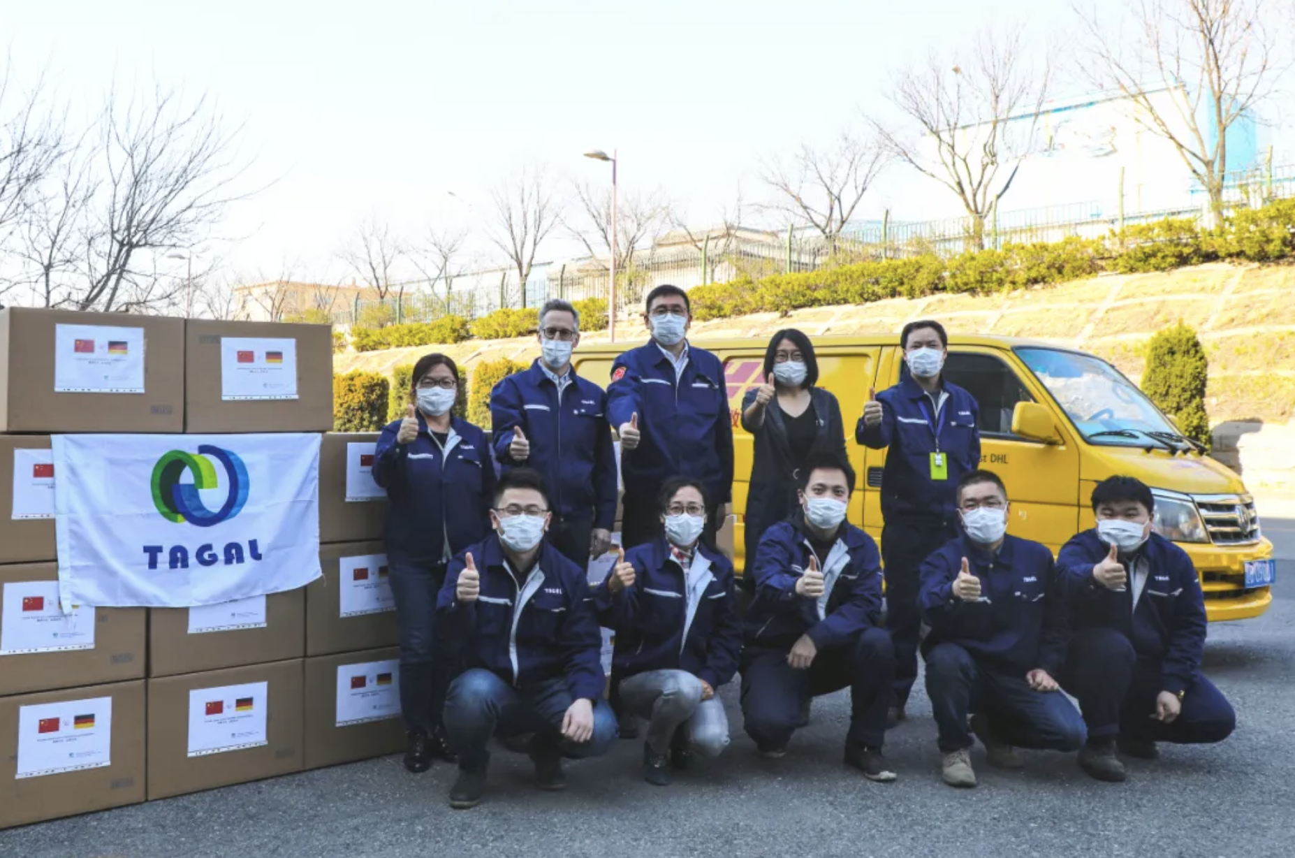 The management of TAGAL from China observed the development of Corona in Germany and decided without further ado to launch the donation campaign.