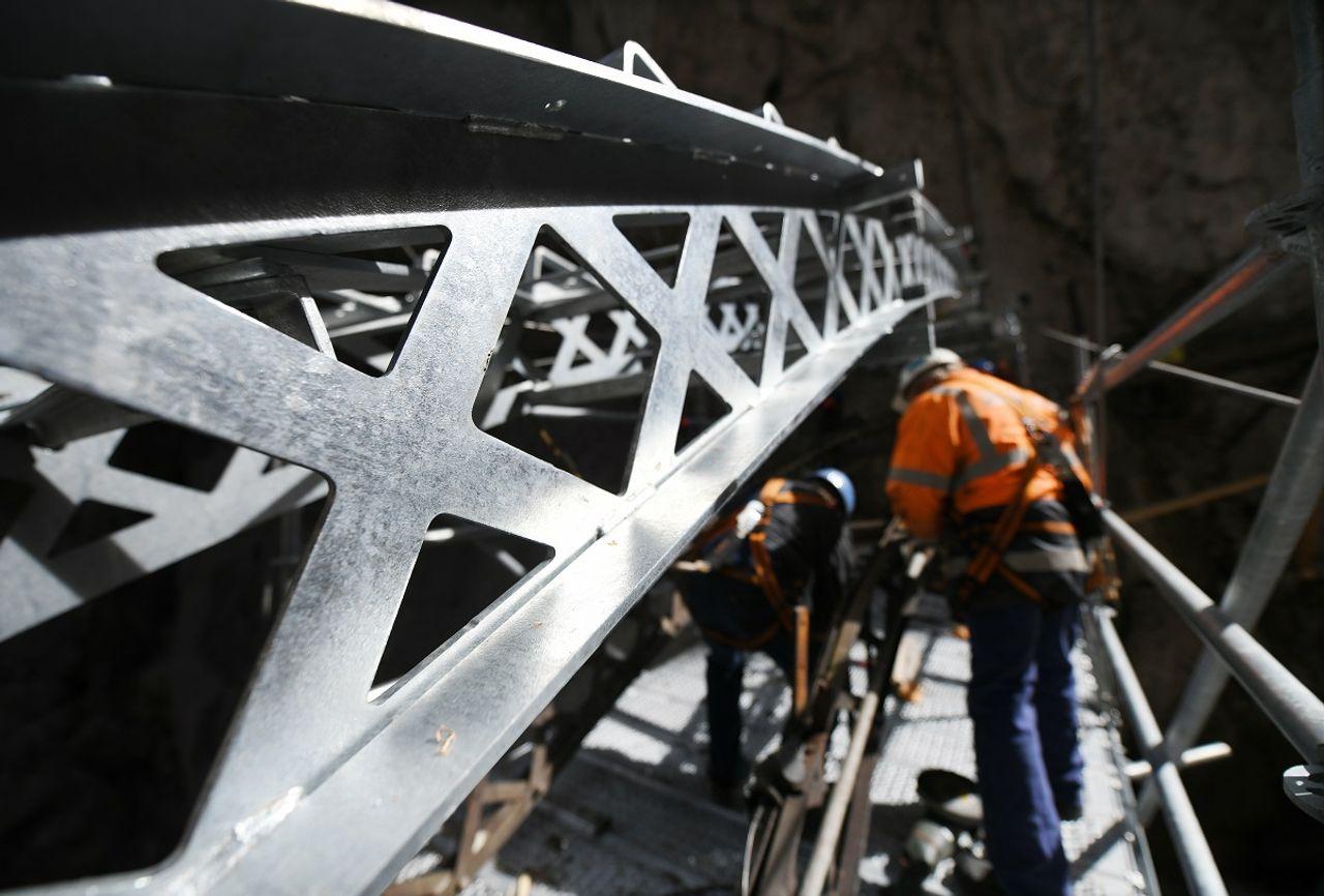 Höllentalklamm, gorge, Zugspitze, Bogenbrücke, steel, steel bridge