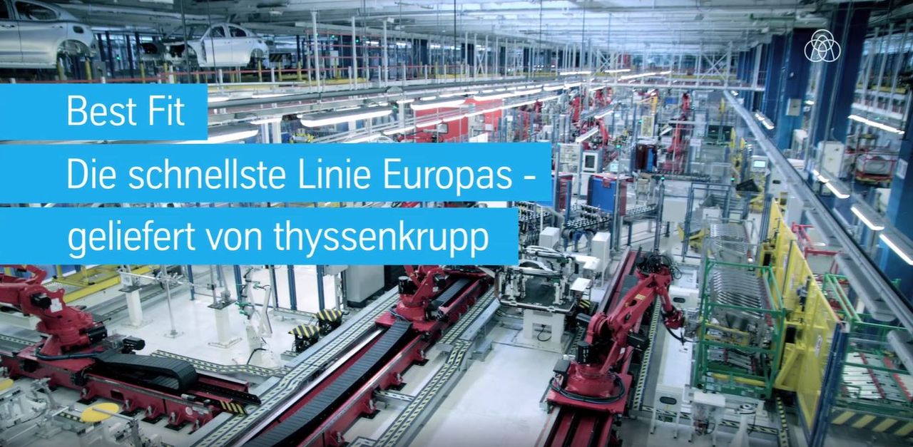 Best Fit - Die schnellste Linie Europas wurde von thyssenkrupp geliefert