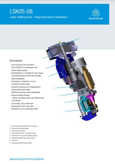 Laser clamp head LSK05-08