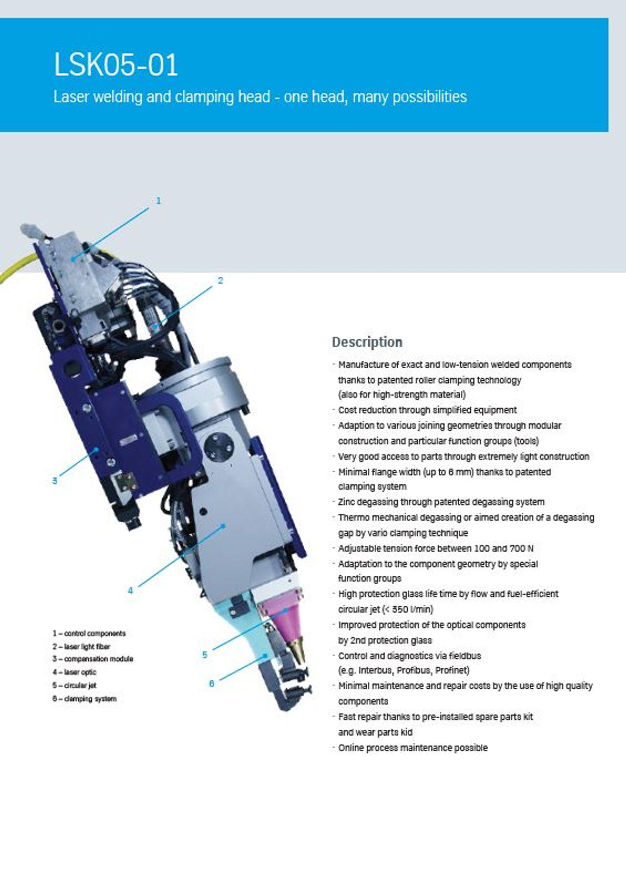 Laser welding head LSK05-01