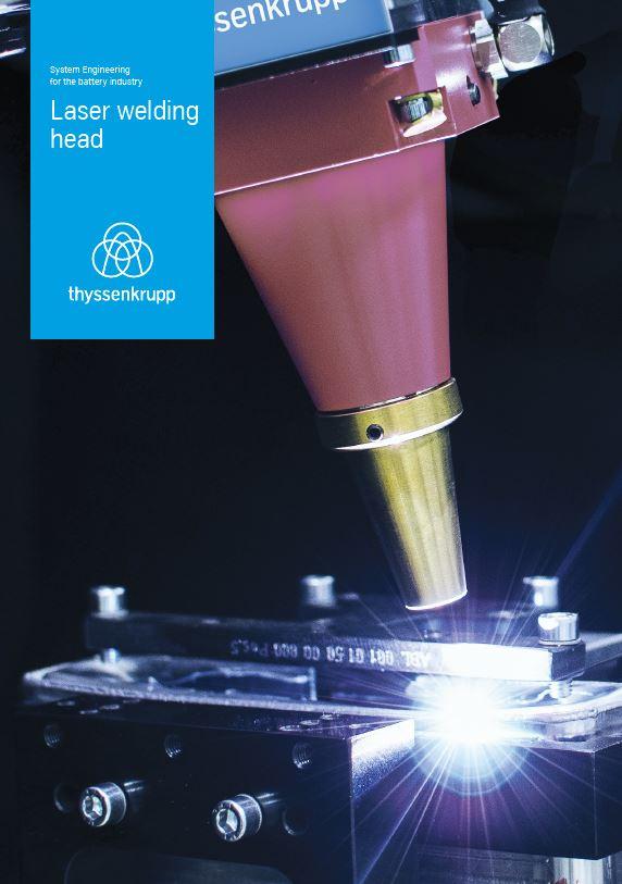 laser welding head for battery applications
