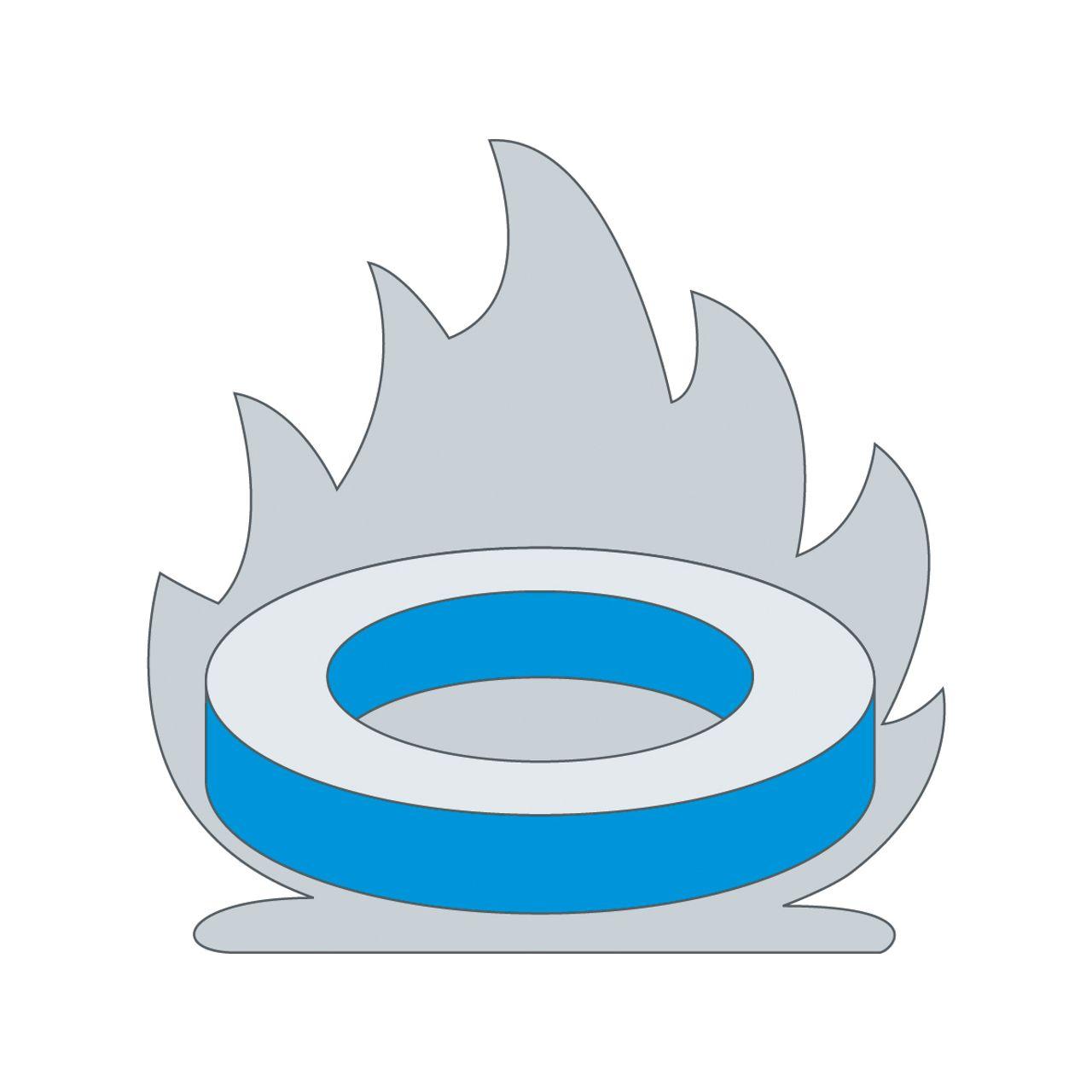 Esquisse d'une bague traitée thermiquement à la flamme
