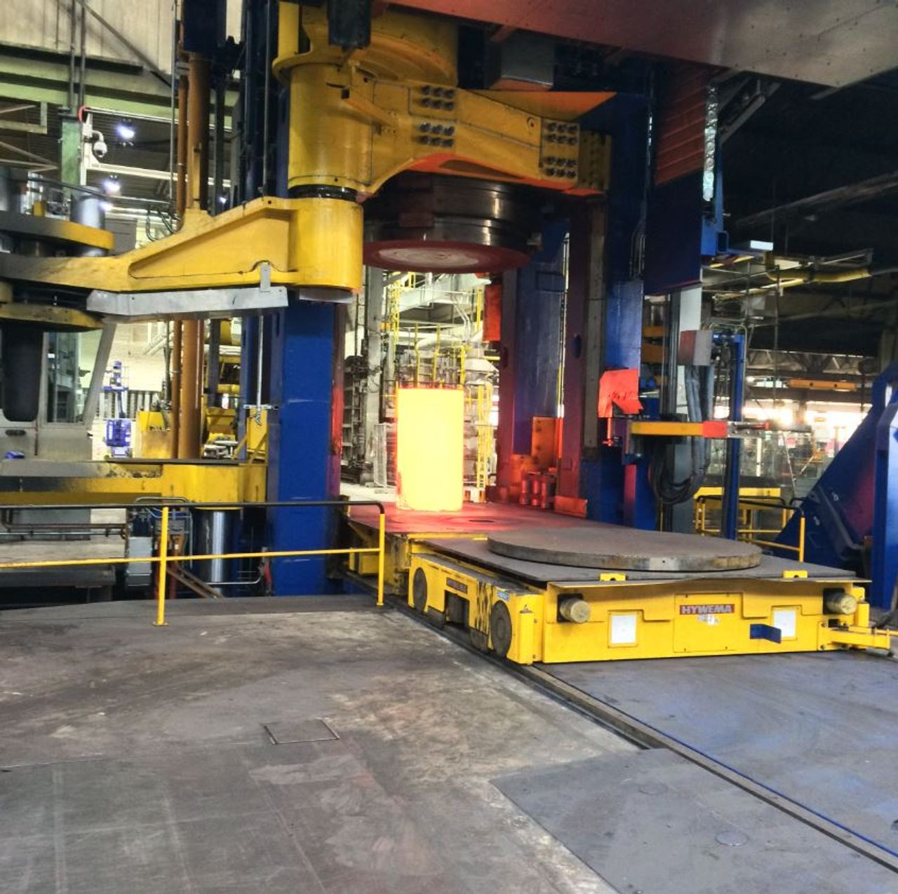 Annealing of the raw material on a 6,000 t press