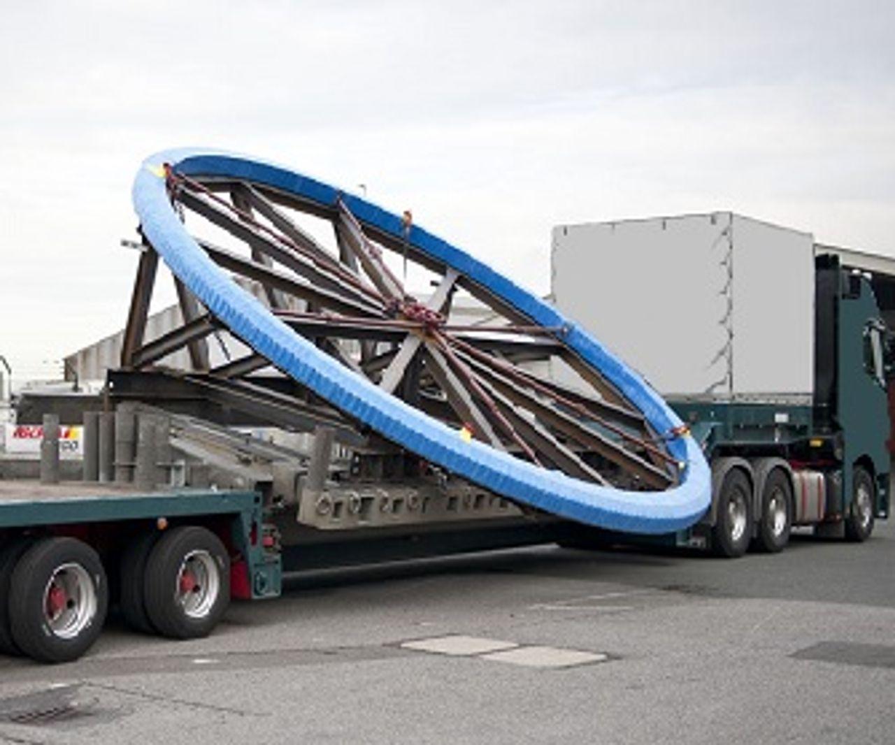 Cojinetes de giro Transporte en camión