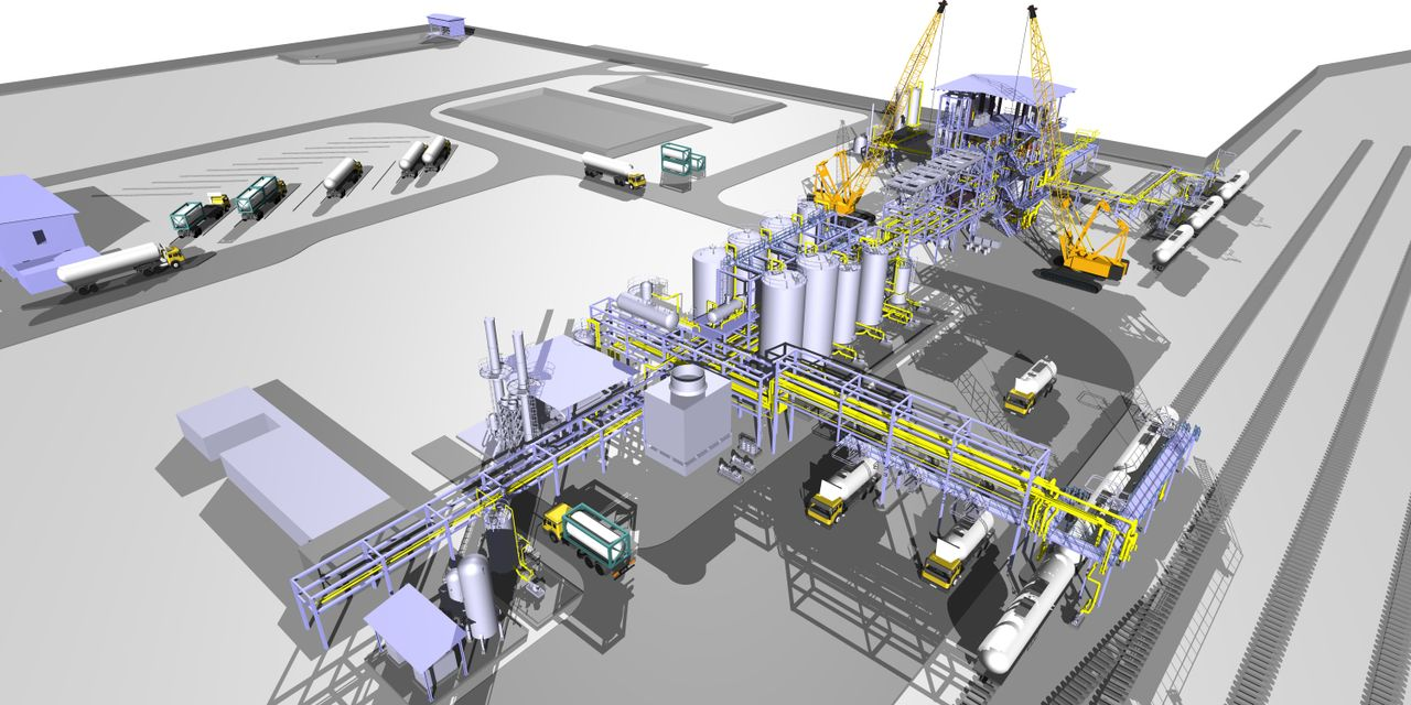full scale 3D Model of an Alkoxylation Facility (ISBL & OSBL)