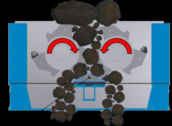 Concasseur primaire: CenterSizer avec enclume de concassage