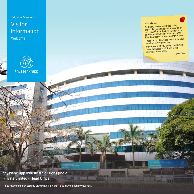 Visitors Booklet - Head Office