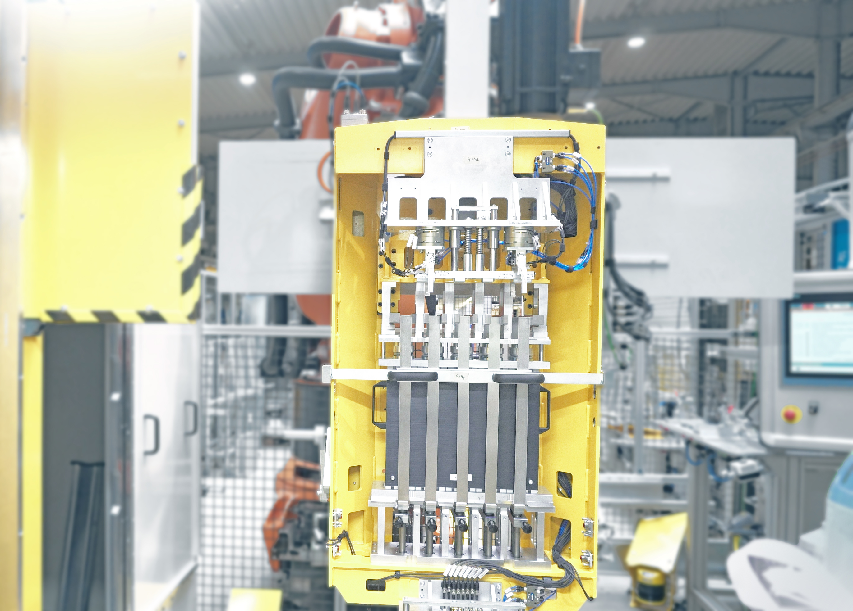 Bändern eines Brennstoffzellen Stacks