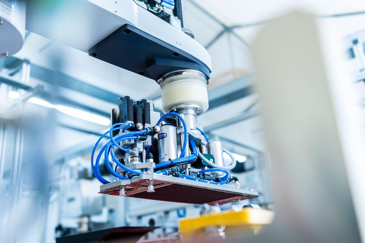 Brennstoffzellen Montagesystem