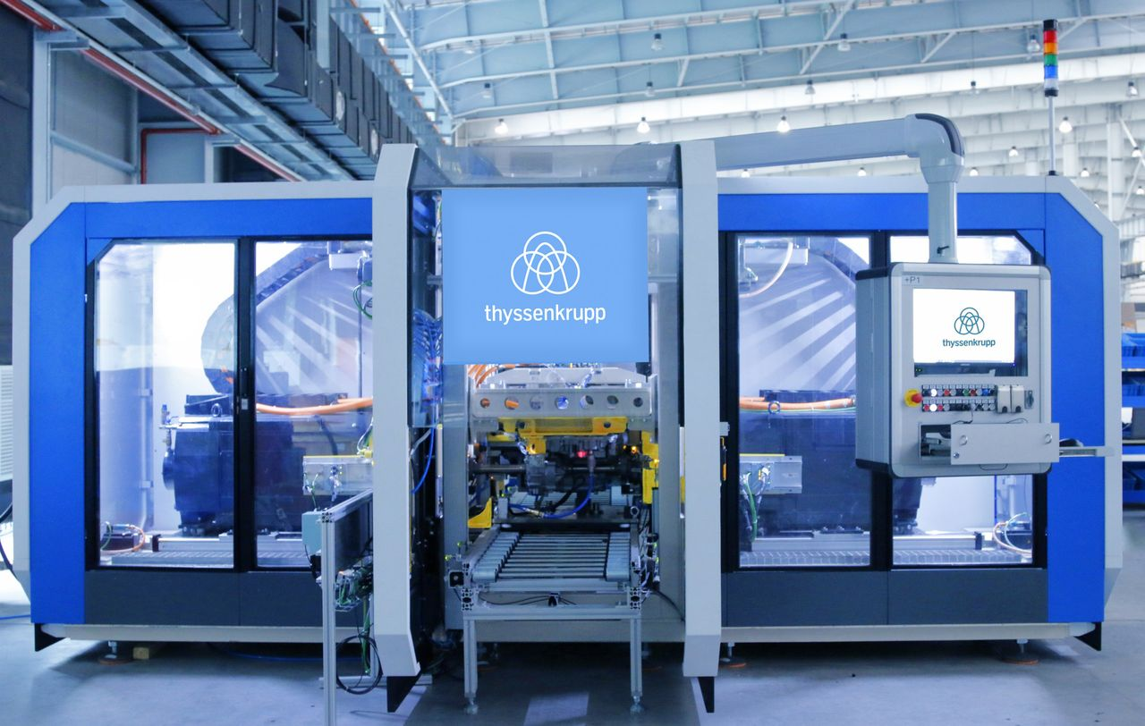Test for electrical drive unit from thyssenkrupp