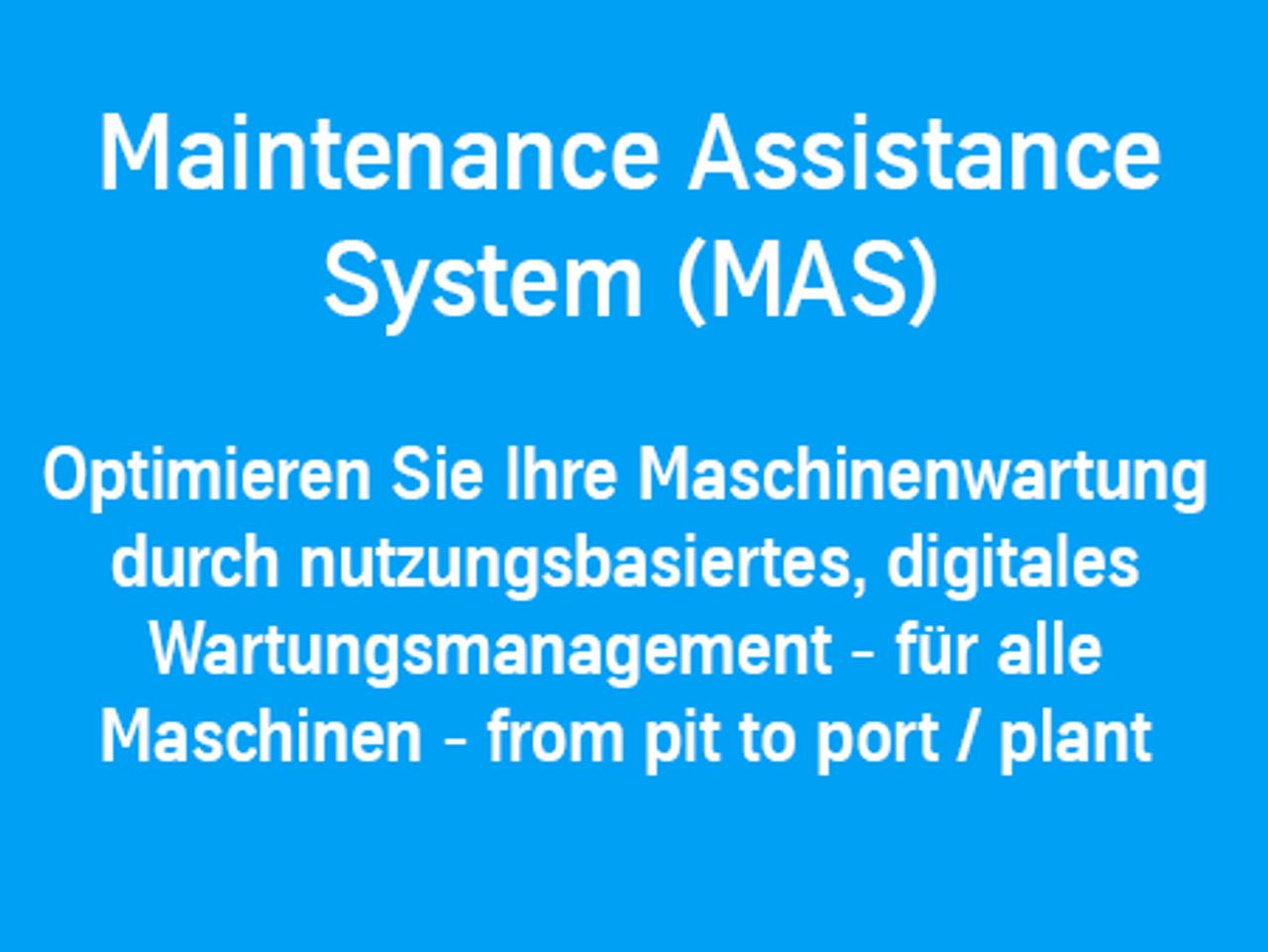 MAS: Optimieren Sie Ihre Maschinenwartung durch nutzungsbasiertes, digitales Wartungsmanagement
