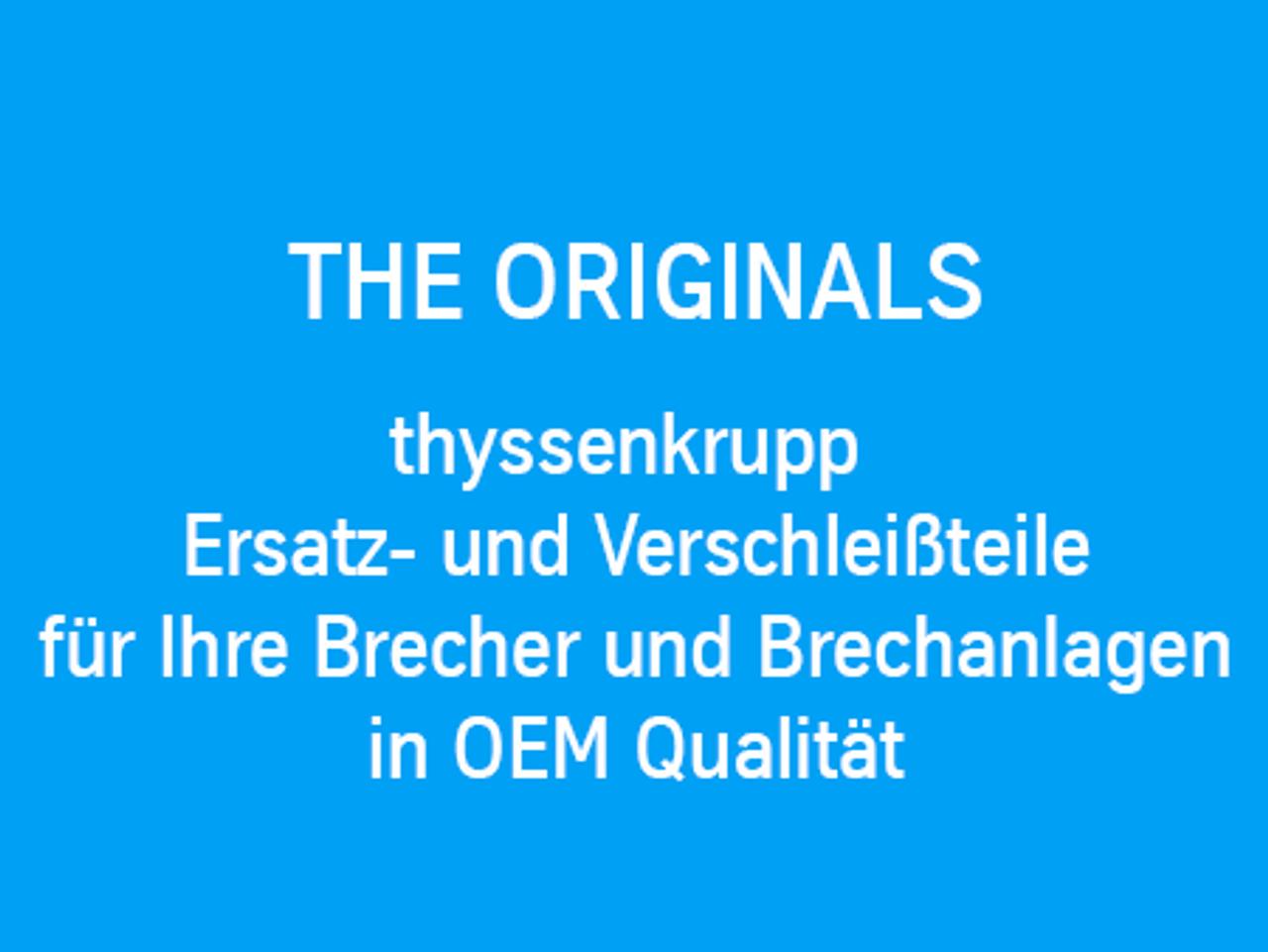 thyssenkrupp Ersatz- und Verschleißteile für ihre Brecher und Brechanlagen in OEM Qualität