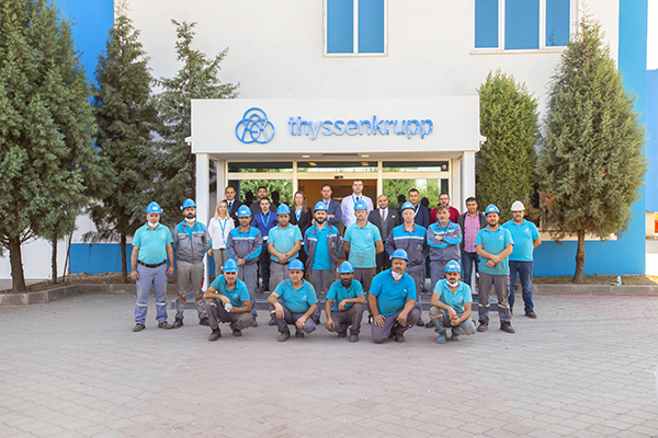 Employees of the manufacturing and service center in Ankara