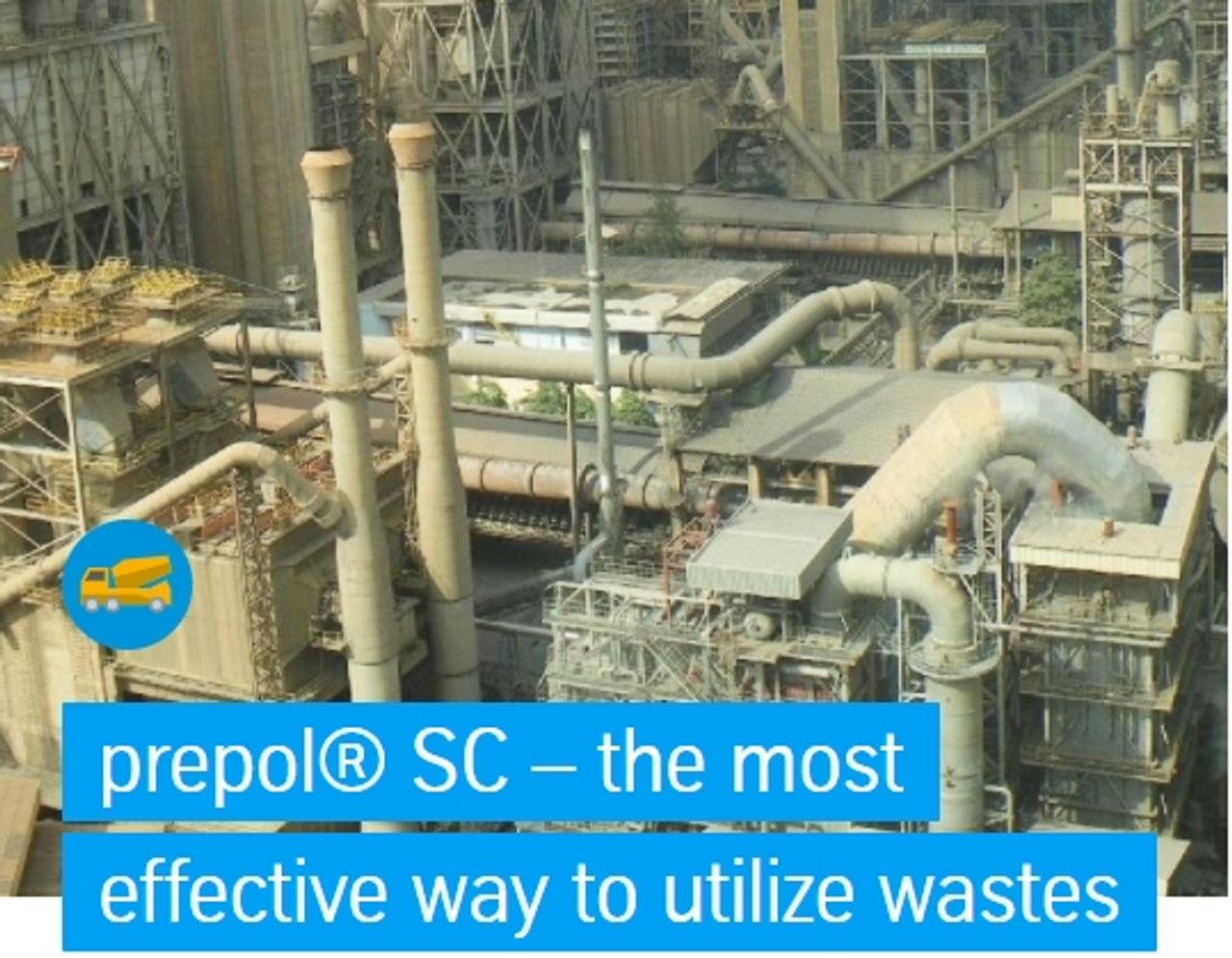 In 2025, according to UN figures, more than 8.1 billion people will live on the earth and produce around six million tons of waste a day. In the future, resources must be used more efficiently and industrial goods must be produced in a more environmentally friendly way. The cement industry provides one example of how this could happen: Through the use of the prepol® SC combustion chamber developed by thyssenkrupp, coal, gas and oil as primary energy sources can be replaced 100 percent by alternative fuels - a sustainable contribution to conserving resources and reducing CO2 emissions.