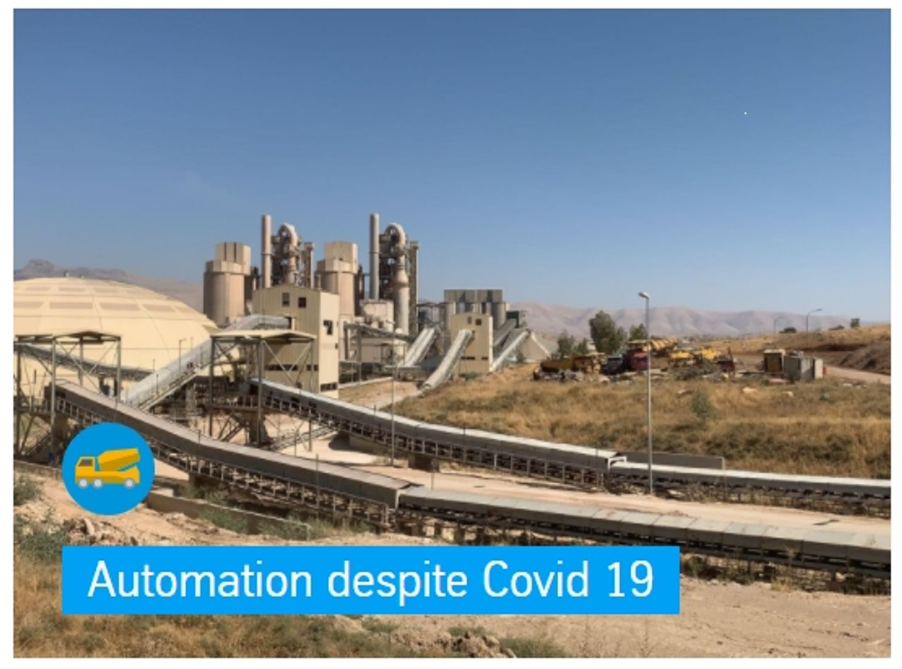Automation despite Covid 19 Sulaymaniyah, Iraq – The upgrade of the polcid process control system at the TASLUJA cement plant of Farukholding group company was carried out successfully by remote service – a first for our colleagues from department Automation & Electrical Engineering. Travel restrictions imposed as a result of the coronavirus pandemic made it impossible to carry out the work face to face in situ as usual.