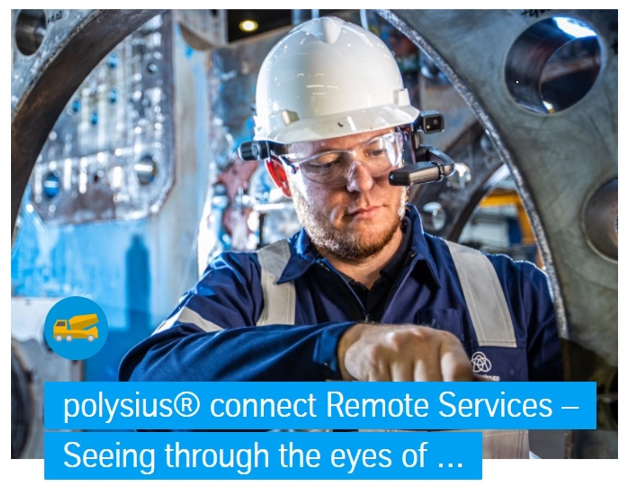 polysius® connect Remote Services – Seeing through the eyes of our experts via data glasses