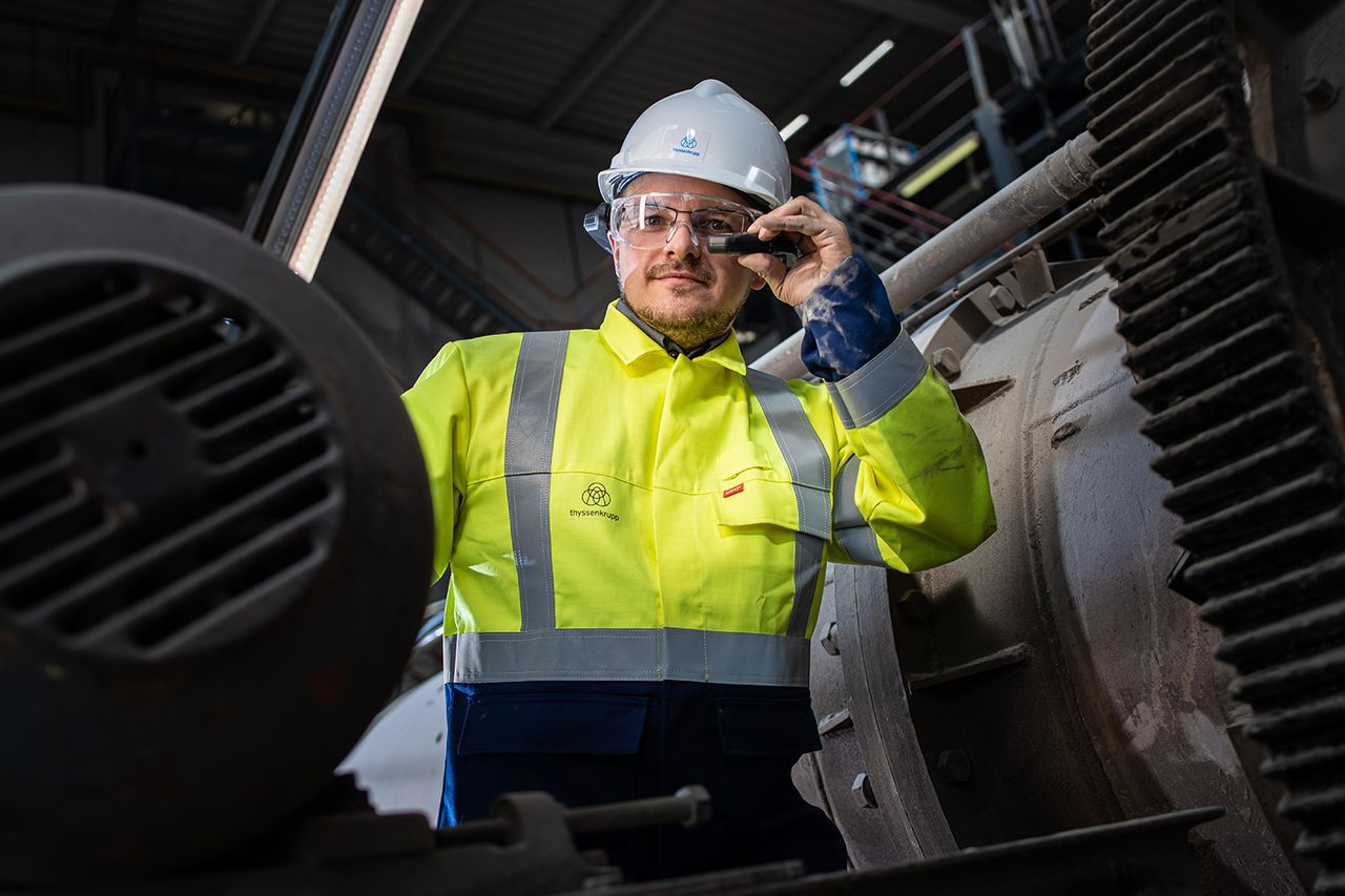 Expert on site via live support with polysius® connect remote service