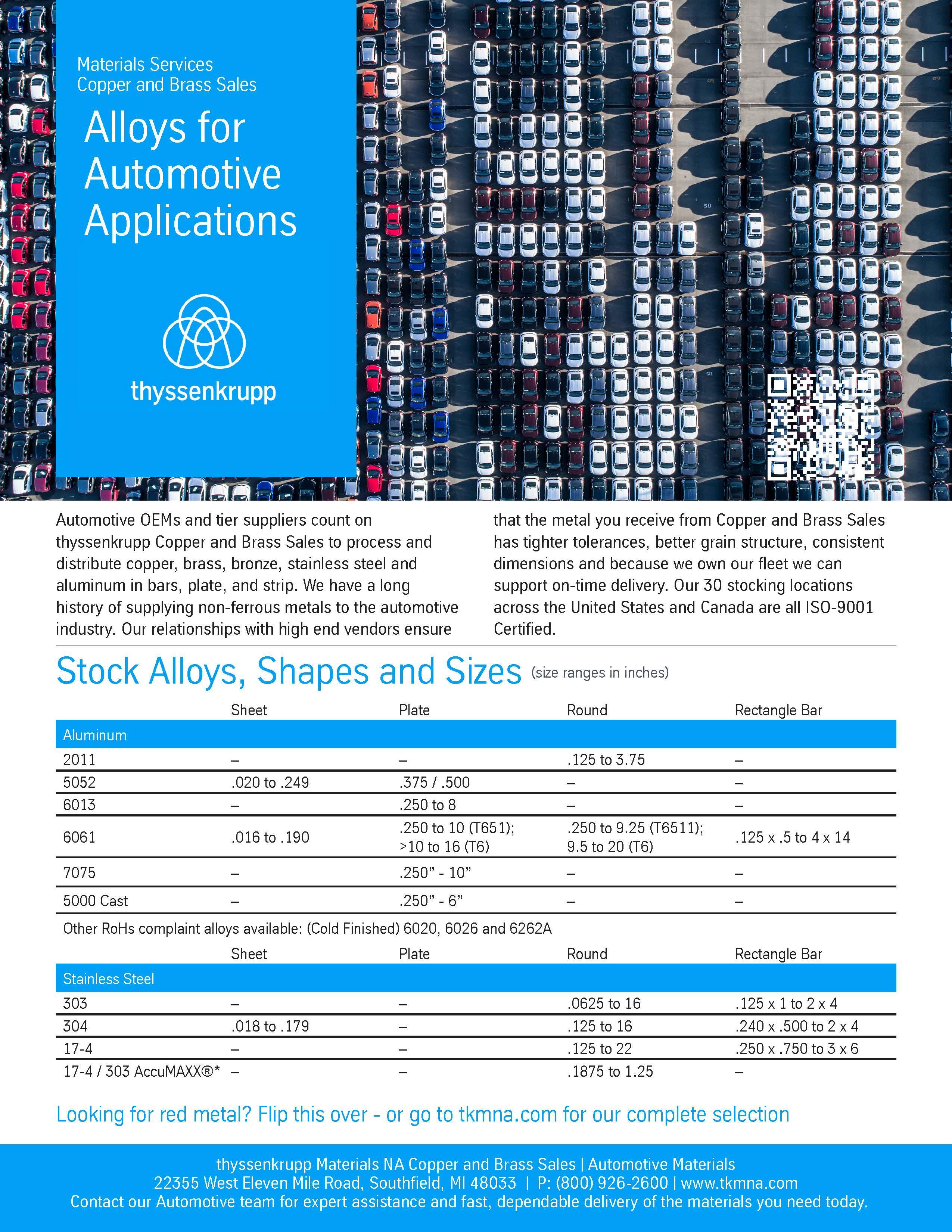 automotive alloys brochure