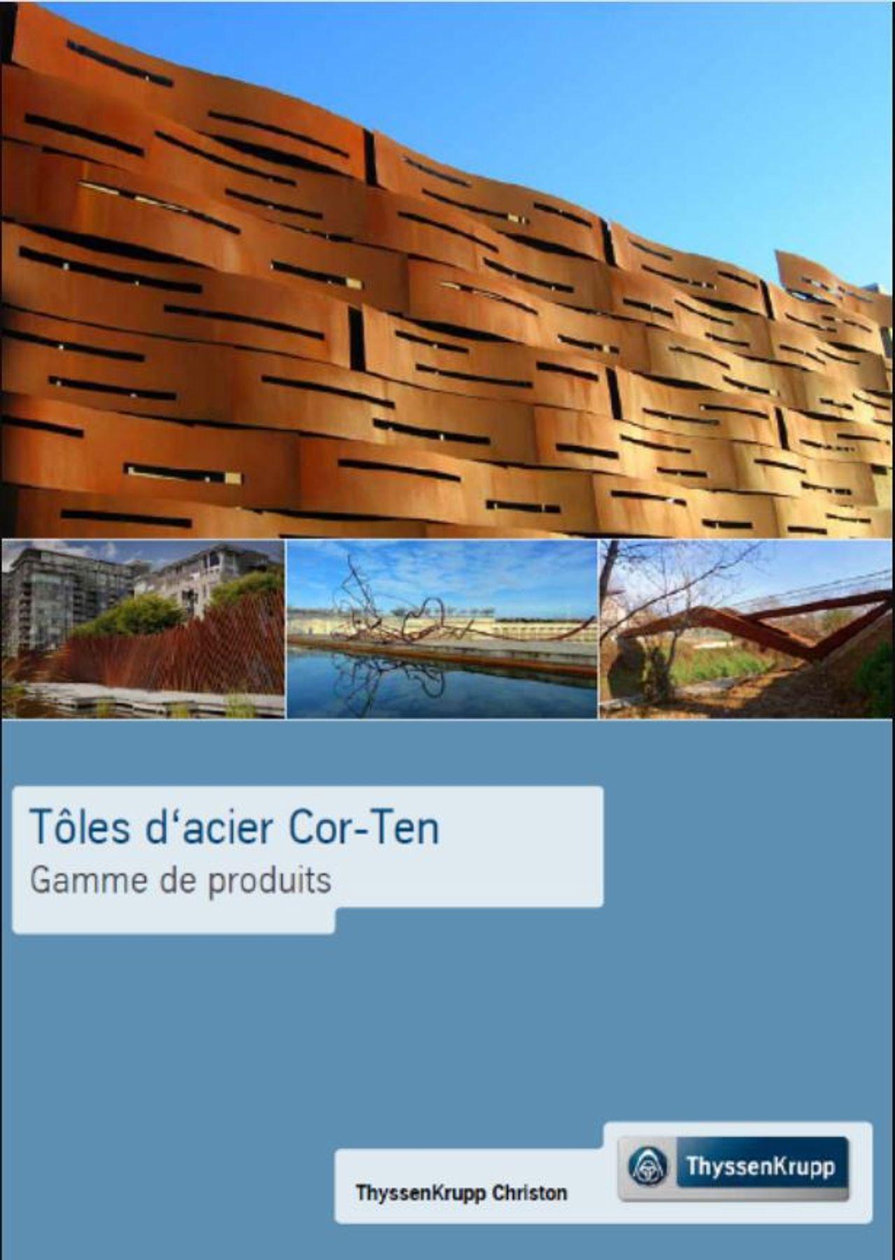 Tôles d'acier Cor-Ten - Gamme de produits (FR)