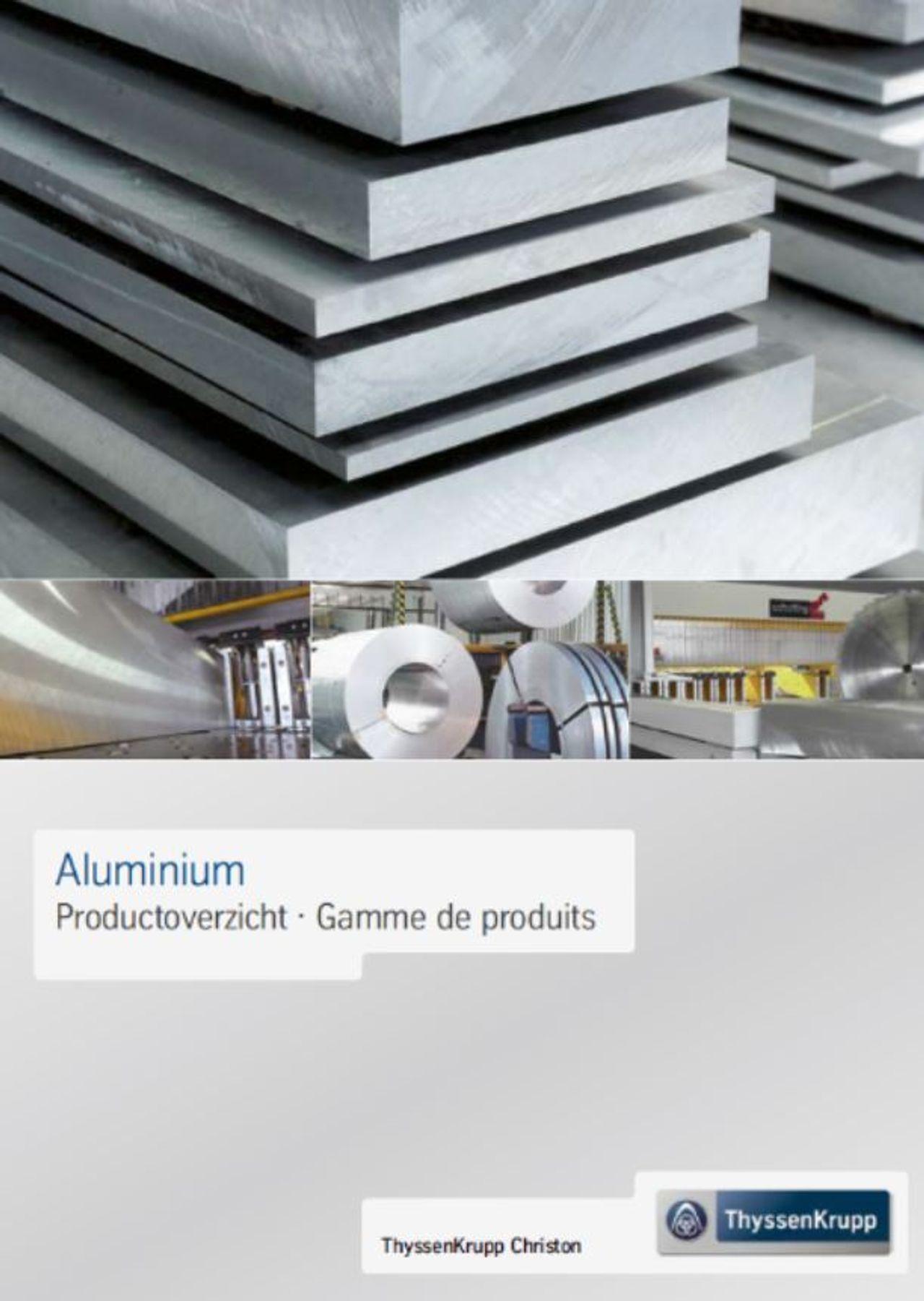 Aluminium - Productoverzicht/Gamme de produits (NL/FR)