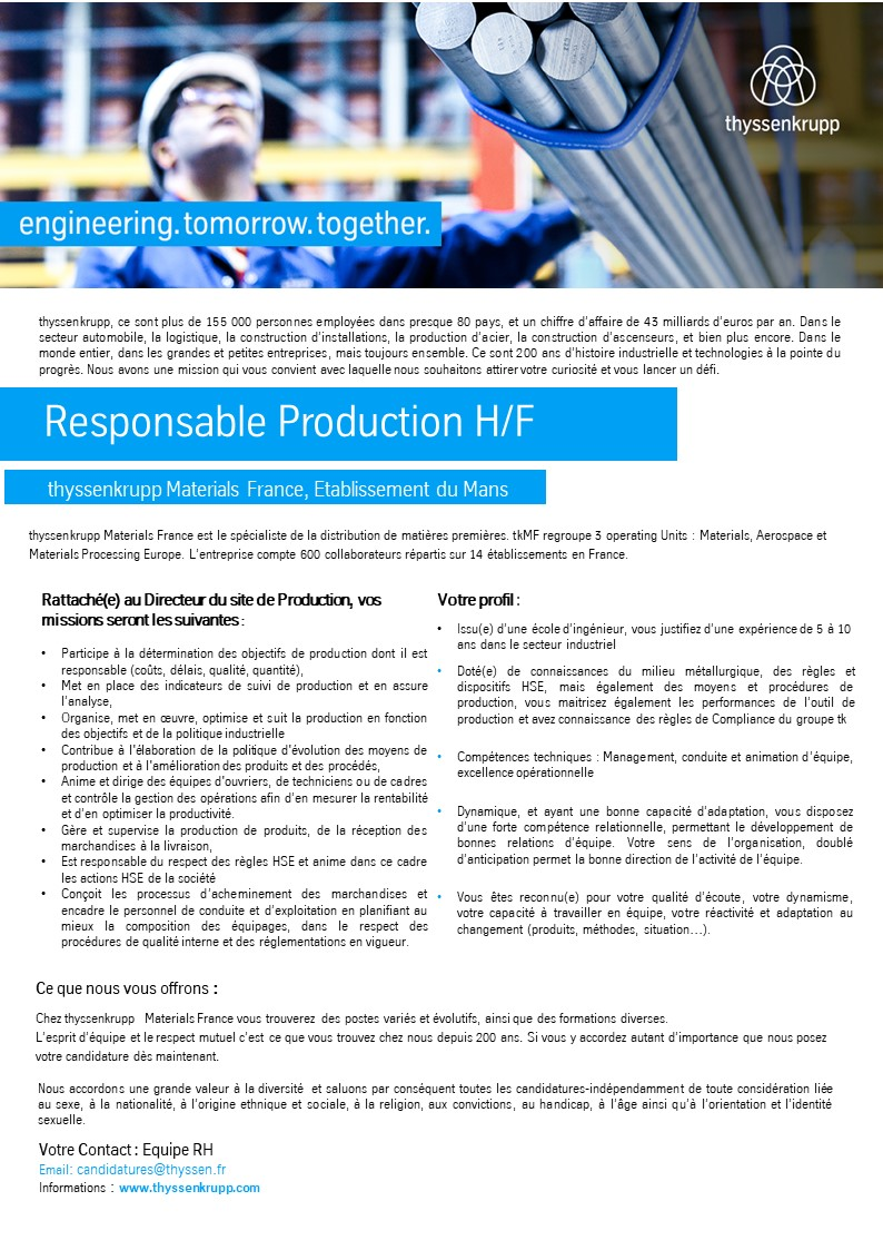 Responsable Production
