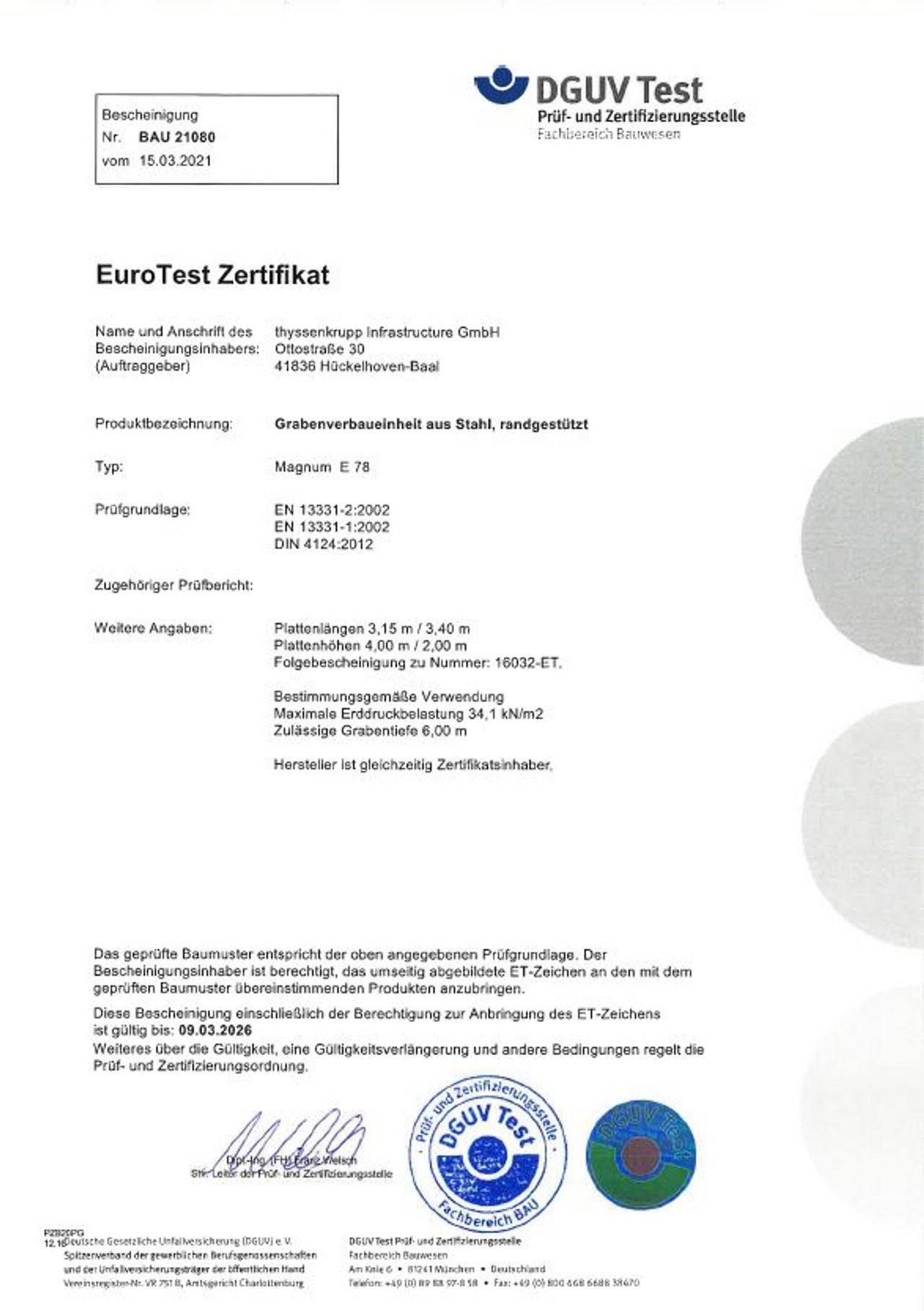 PDF Download Pruefbescheinigung