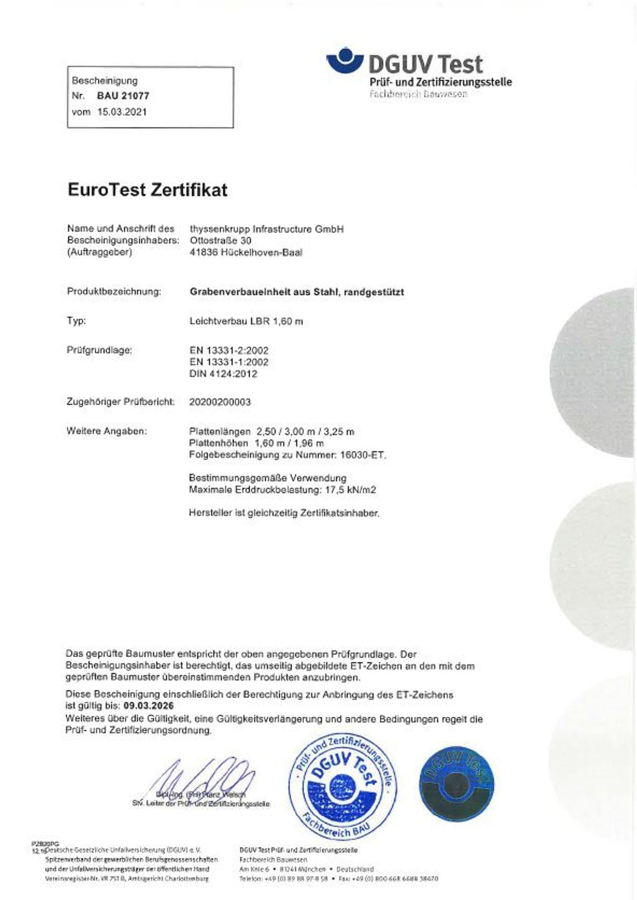 PDF Download EuroTest Zertifikat LBR 1,60 m